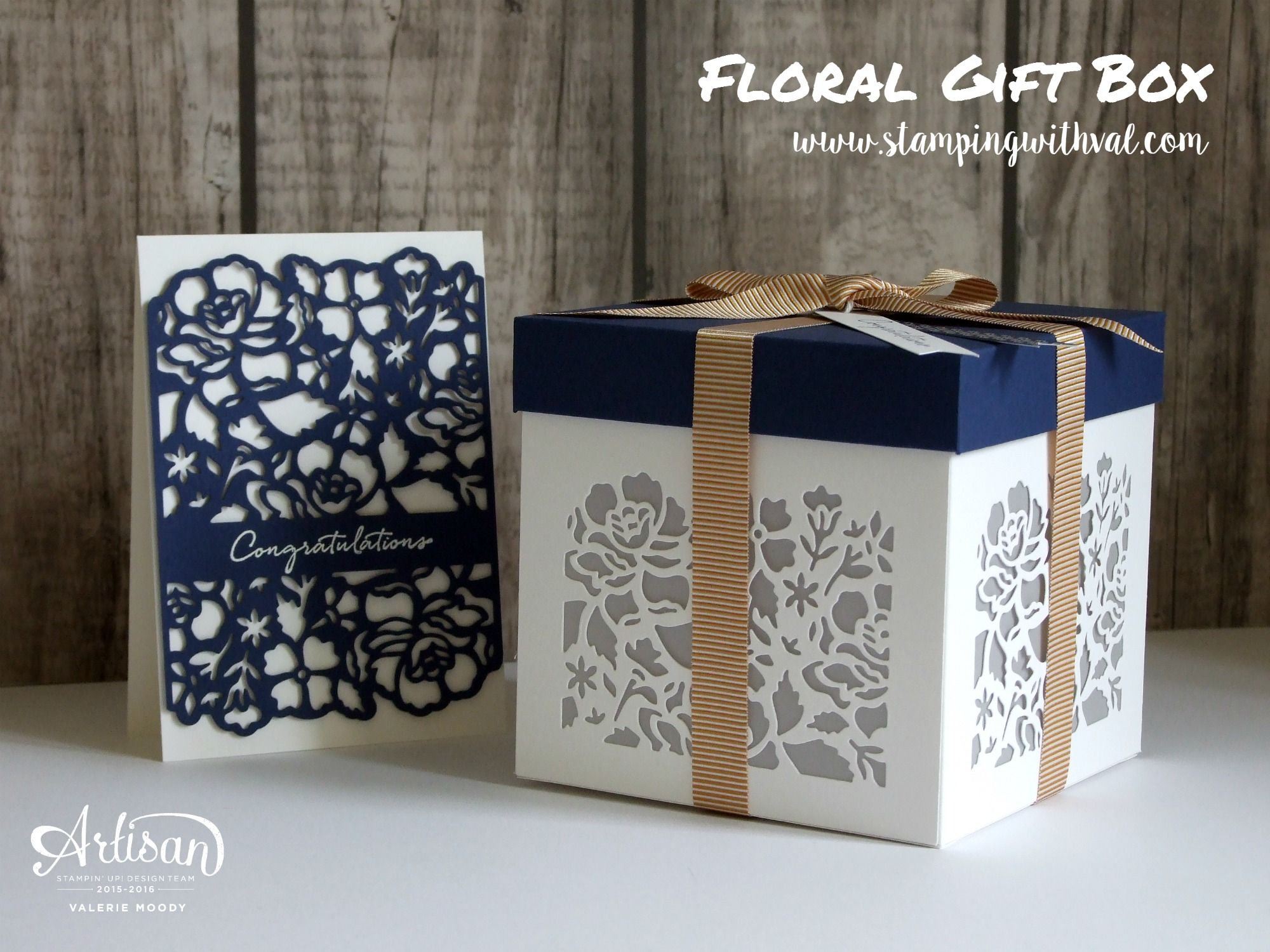 Stampin' Up! - Detailed Floral Thinlits - Gift Box - Valerie Moody, UK Stampin' Up! Demonstrator. X