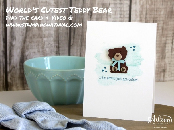 Stampin' Up! - Fox Builder Punch - Foxy Friends - Baby Card - Video - Valerie Moody; Independent Stampin' Up! Demonstrator. X