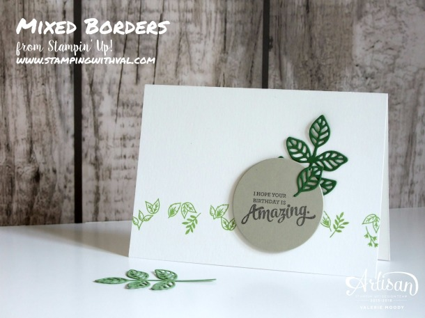 Stampin' Up! - Mixed Borders - Valerie Moody - Quick Card - Buy Stampin' Up! HERE