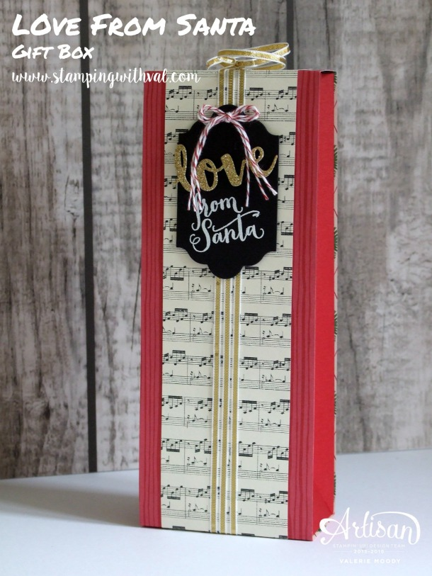 Stampin' Up! - Peace This Christmas - Gift Box - Valerie Moody, Independent UK Demonstrator. X