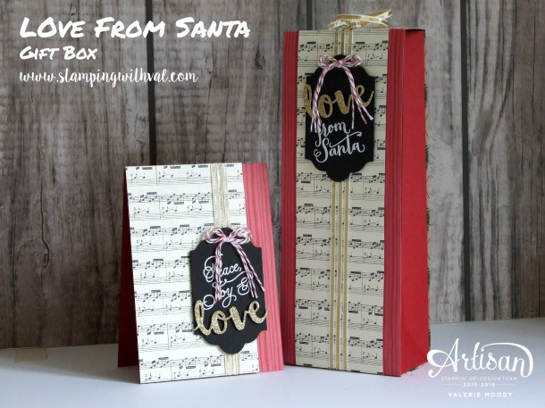 Stampin' Up! - Peace This Christmas - Gift Box - Valerie Moody, Independent UK Demonstrator. X2