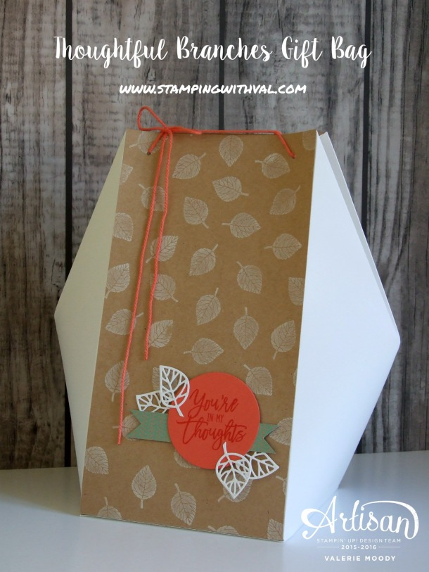 Stampin' Up! - Thoughtful Branches - Gift Bag - Valerie Moody - UK Stampin' Up! Demonstrator. X2