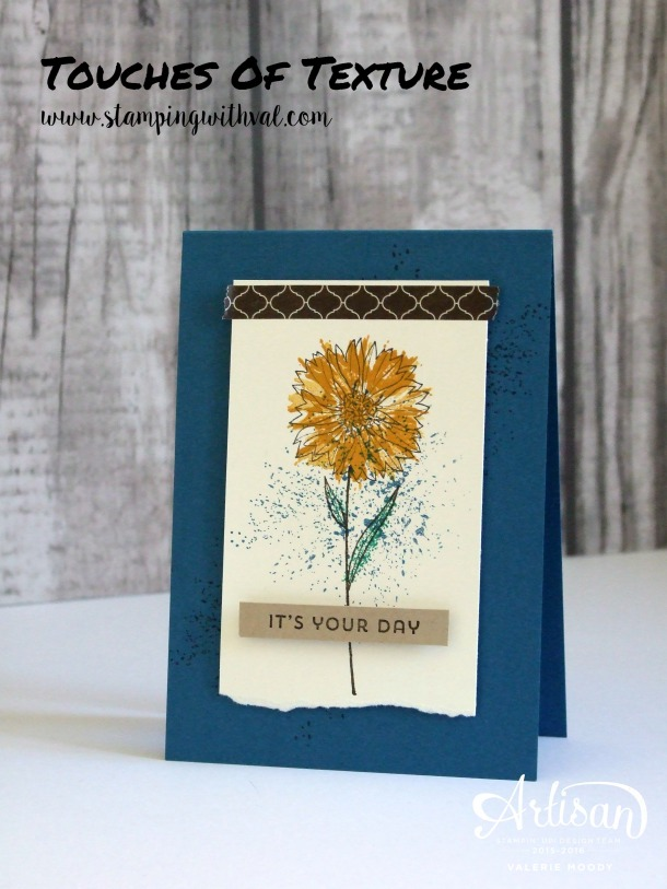 Stampin' Up! - Touches of Texture - Valerie Moody; UK Independent Stampin' Up! Demonstrator. X