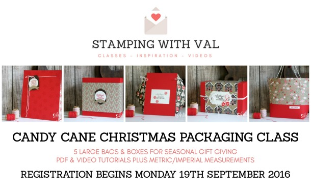 Stampin' Up - Candy Cane Lane - Gift Bag - Gift Box - Stamping With Val. X