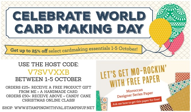Stampin' Up! - World Card Making Day - Videos, Projects, Order Stampin' Up! HERE